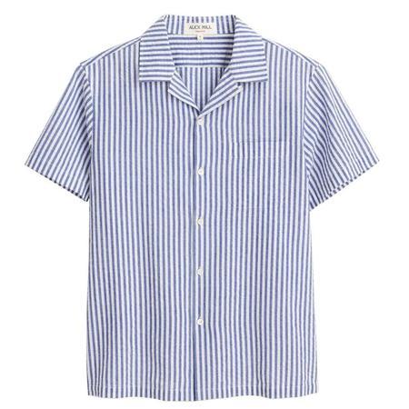 Alex Mill Camp Shirt - LIGHT BLUE/WHITE