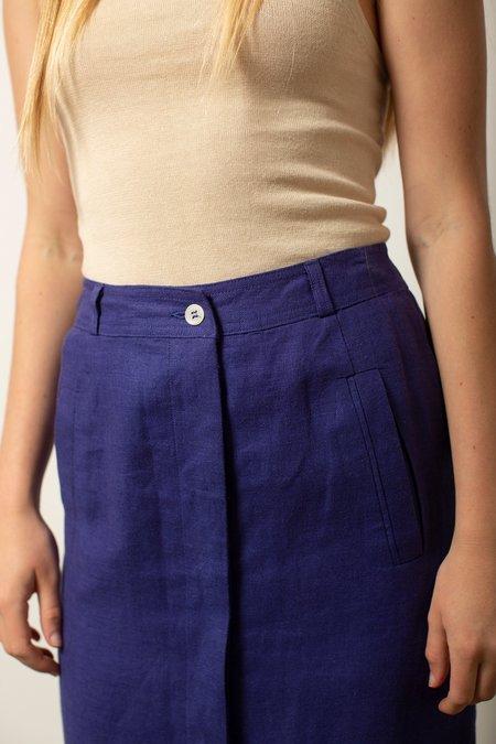 Vintage Skirt - Violet Blue