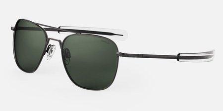 Randolph Engineering Aviator Polarised sunglasses - Gunmetal/dark green