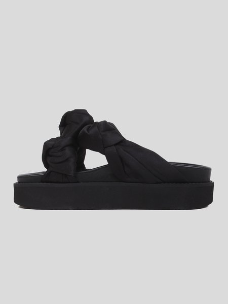 Ganni Recycled Satin Mid Knotted Sandal