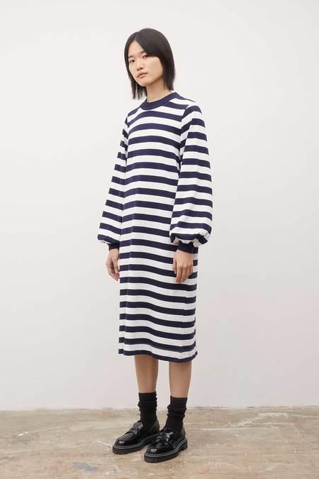 Kowtow Gather Sleeve Dress - Stripe