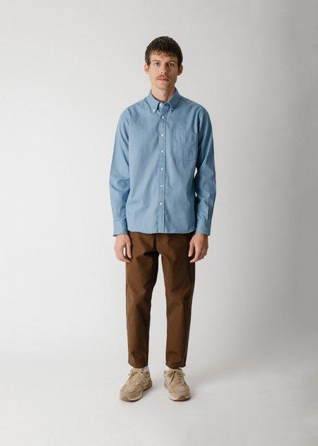 Steven Alan Classic Collegiate Shirt - Sky Oxford
