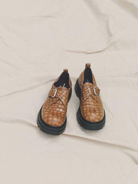 Departamento x Premiata Croc Buckle Strap Leather Combat Derby - Biscotto