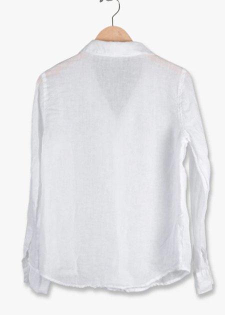CP Shades Ruffle Top - white