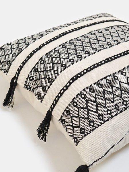 Erica Tanov toubkal cotton throw pillow - natural/black