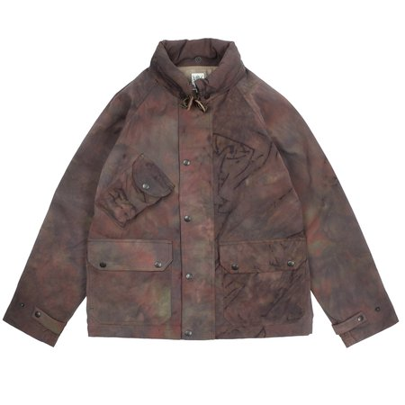 South2 West8 Uneven Dye Carmel Jacket - Olive/Purple