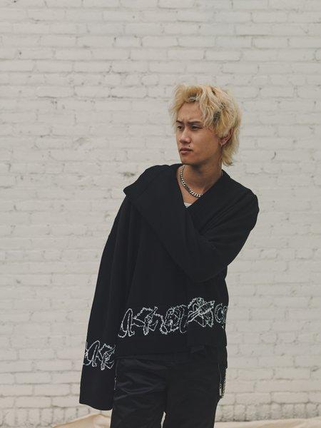 Enfants Riches Deprimes Wool Kinbaku Asymmetrical Knit Sweater - Black