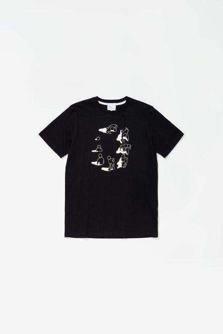 Norse Projects x GM Niels Circle Logo T-Shirt - Black
