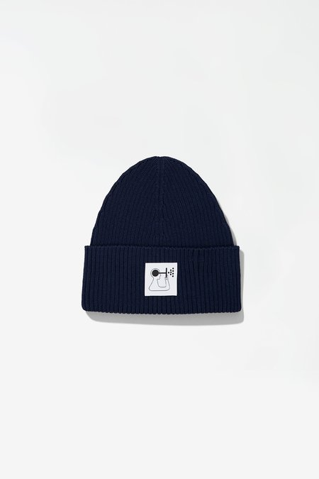 Norse Projects x GM Rib Beanie - Hydrone Blue