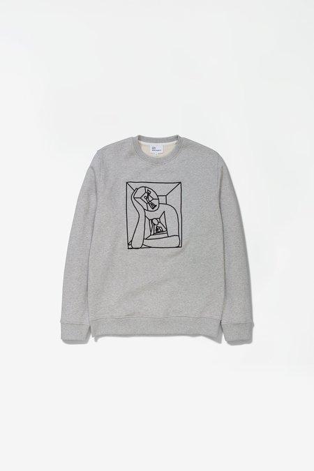 Norse Projects X Gm Vagn Boredom Logo Sweatshirt - Light Grey Melange