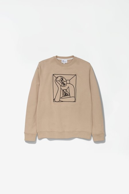 Norse Projects X Gm Vagn Boredom Logo Sweatshirt - Tan