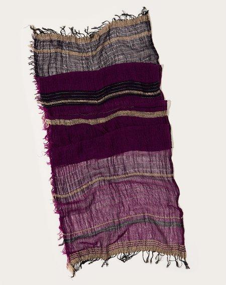 Tamaki Niime Middle Roots Shawl - Dark Purple