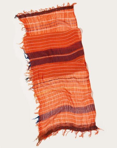 Tamaki Niime Middle Roots Shawl - Orange