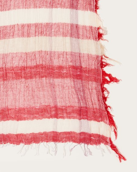 Tamaki Niime Middle Roots Shawl - Red Stripe