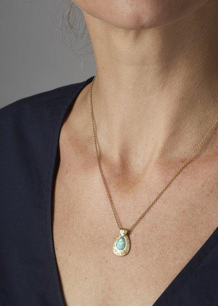 Tony Malmed Jewelry Boulder Opal Necklace - 18k gold/1.32ct