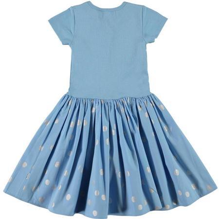kids molo cissa dress - silver dots