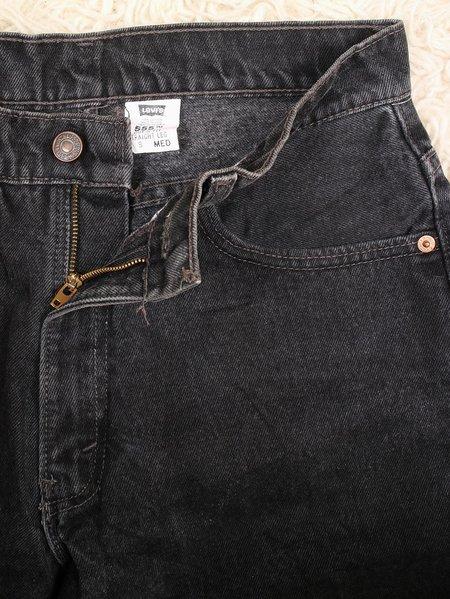 Vintage levi's 555 straight leg jeans - black