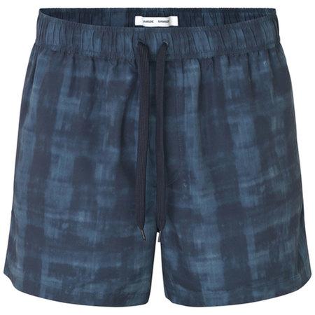 Samsoe Samsoe Mason Swim Shorts Aop - Blue Shibori