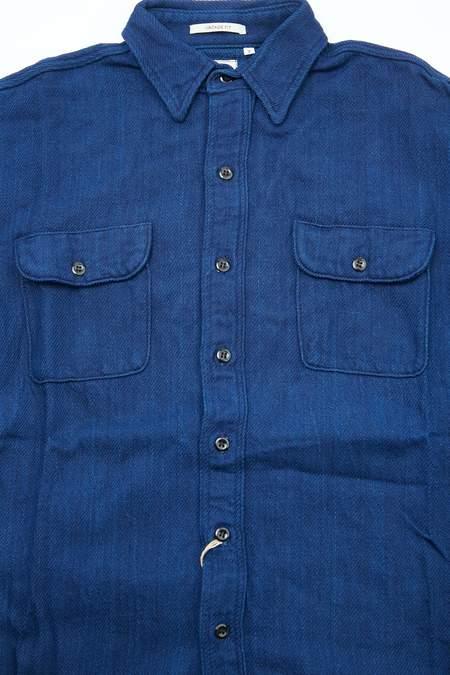 Orslow Vintage Fit Flannel Shirt - Indigo