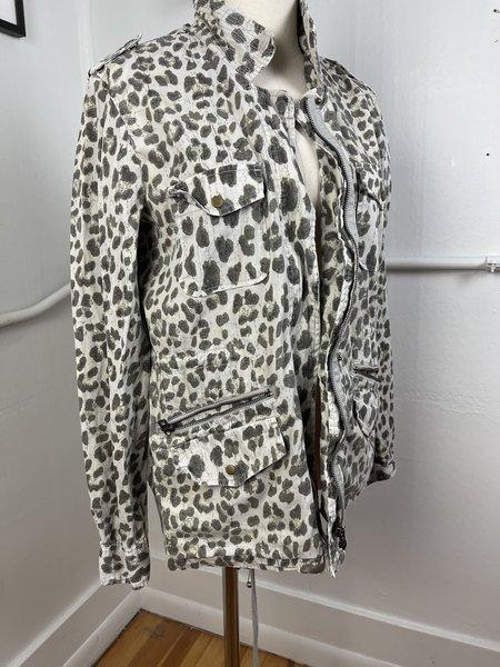 Pre-loved Lily Aldridge for Velvet Coat Cheetah Jacket - beige multi