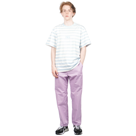 Noon Goons CRUISER STRIPE T-SHIRT - BABY BLUE/WHITE