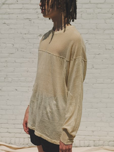 Our Legacy Linen Moto Knit Top - Antique Ivory