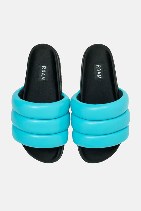 ROAM Puffy Slide Shoes - Turquoise