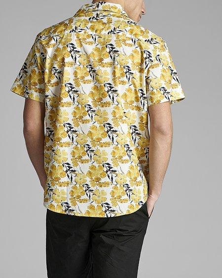 ANERKJENDT Akleo SS Poplin AOP 5528 Shirt - Sulphur
