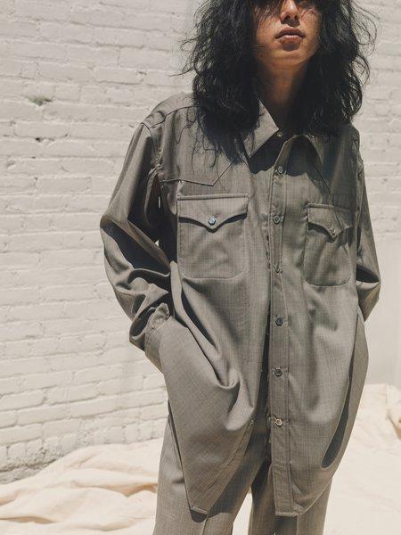 Unisex Our Legacy Wool Cut Ranch Shirt - Stone Grey