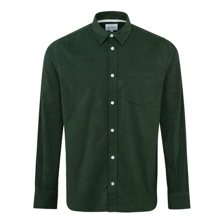 Norse Projects Osvald Corduroy Shirt - Forest
