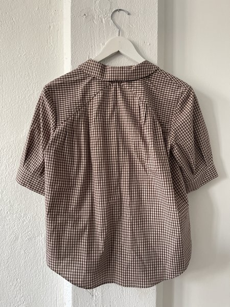 Christine Alcalay Katherine Pleated S/S Blouse - brown