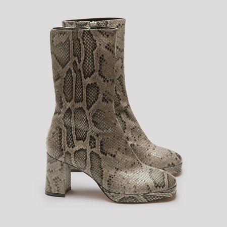 Miista Carlota Boot - Taupe Snake
