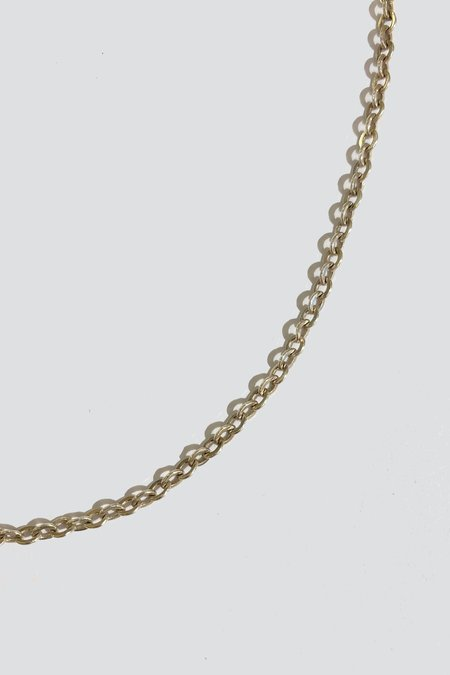 Vintage Long Rolo Chain Necklace - Sterling Silver