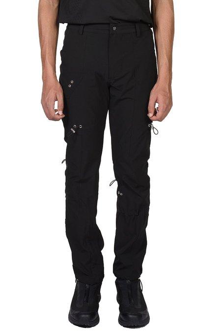 Heliot Emil Drawstring Cargo Trousers - Black