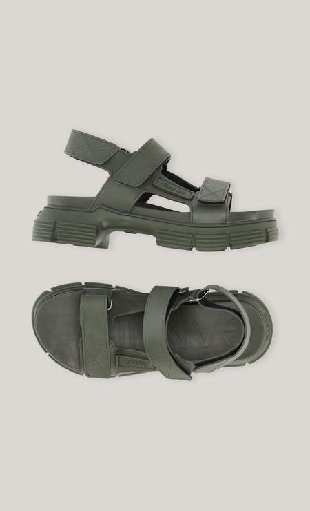Ganni Rubber Strap Sandal - Kalamata