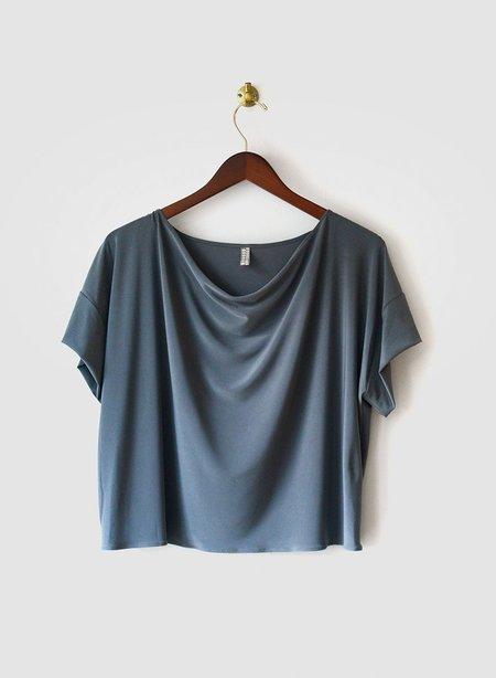 Meg Movement Cowl Neck Tee - Grey