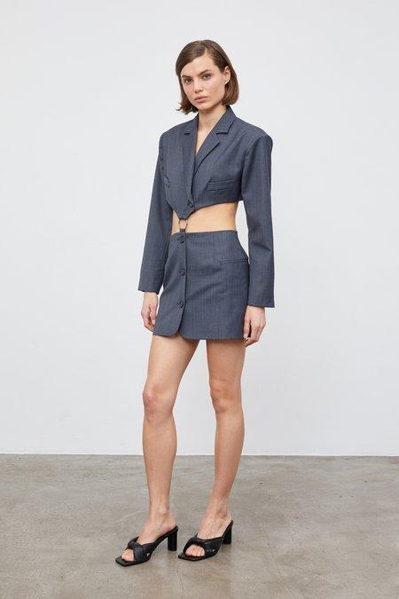 Aya Muse Crystal Blazer Dress - Charcoal