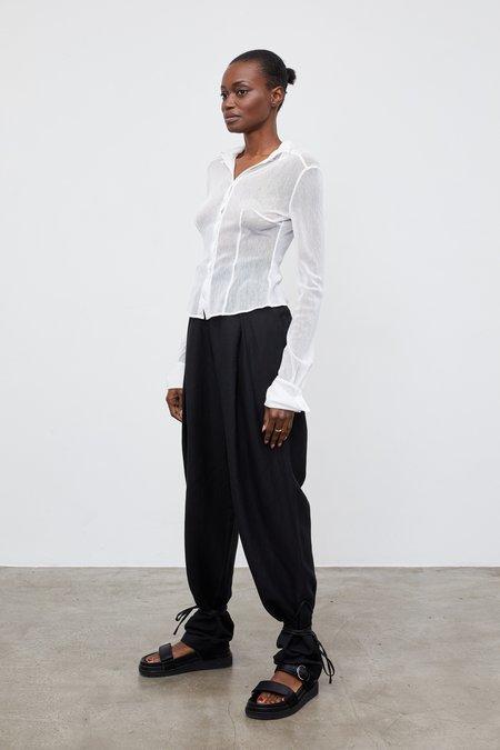 Aya Muse Lila Mesh Shirt - White