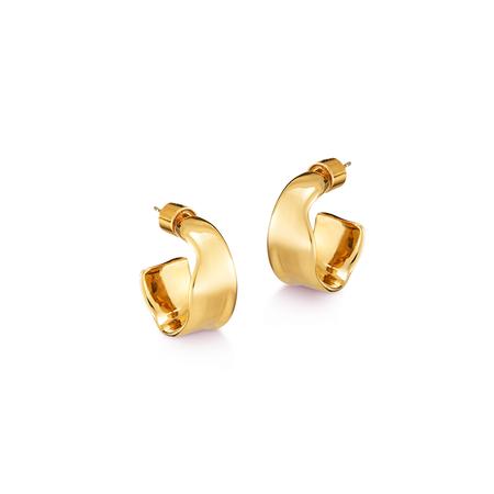 Jenny Bird Ora Hoops - 14K gold-dipped brass