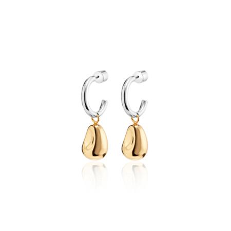 Jenny Bird Roche Hoops - 14k gold/sterling silver
