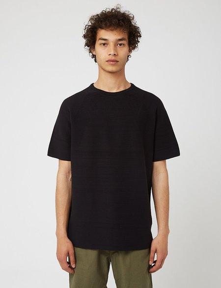 Snow Peak WG Strecth Knit T-Shirt - Black