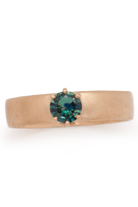 Valley Rose Boreal Sapphire Wide Band