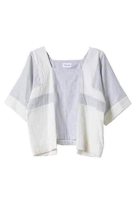 Atelier Delphine Wrinkled Cotton Block Top - Stripe
