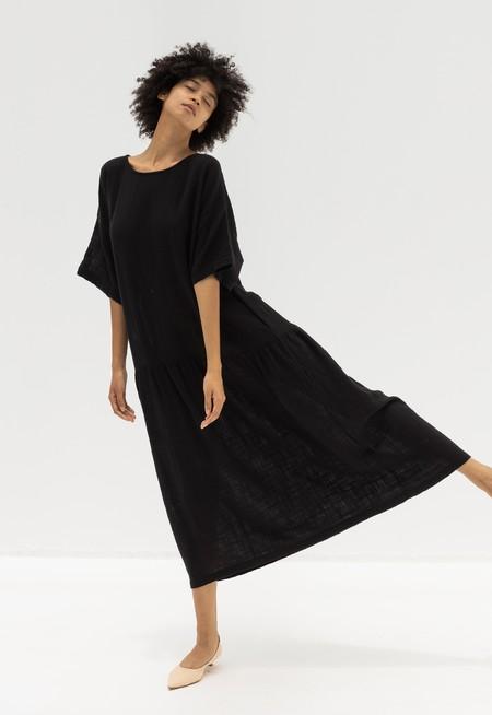 BLACK CRANE EASY DRESS - FADED BLACK