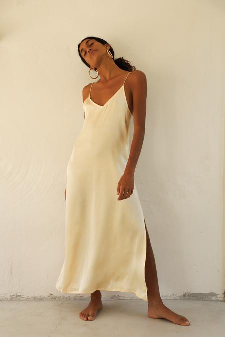 BAHHGOOSE SILK SLIP dress - yellow