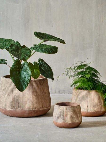 Nkuku Wampu Medium Wide Planter - Terracotta