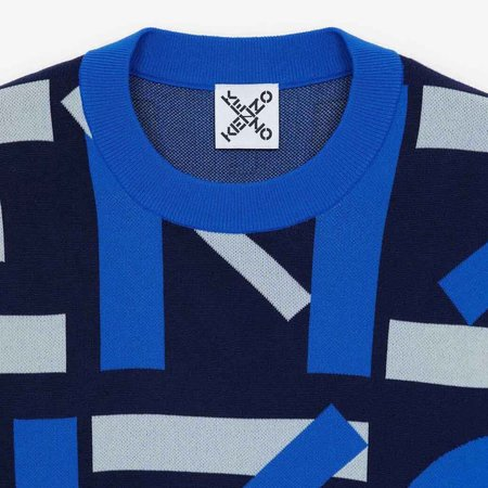 Kenzo Mongram Knit Crewneck - Blue