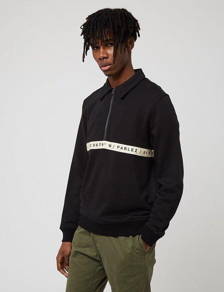 Parlez Farr Quarter Zip Sweatshirt - Black