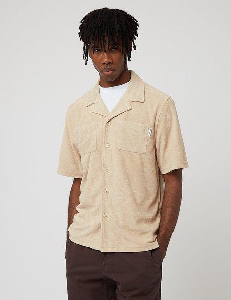 Parlez Wauquiez Toweling Cuban Shirt - Beige