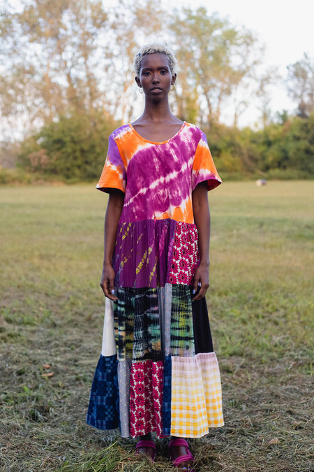 Abacaxi Long Patchwork Tee Dress